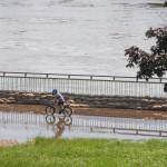 Hochwasser am Schleinufer Magdeburg